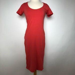 ASOS Bodycon Short Sleeve Coral Dress